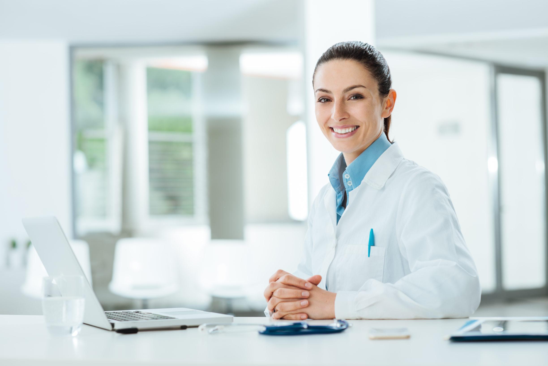 Doctor Smiling Side On